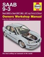 HAYNES WORKSHOP REPAIR MANUAL FOR SAAB 9-3 PETROL & DIESEL 2002 - 2007 52-57 reg